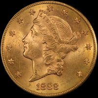 1888-S $20 MS64+ PCGS