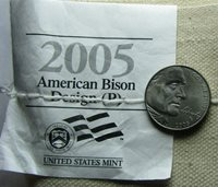 2005 P 5¢ BISON JEFFERSON NICKEL IMPROPERLY ANNEALED Straight from Mint Bag