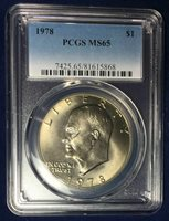 1978 S Clad $1 'Ike' Eisenhower Dollar PCGS MS65 MS 65