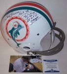 Bob Griese - Autographed Full Size Riddell Football Helmet - Miami Dolphins 2-Bar TK Throwback - BAS Beckett Authentication