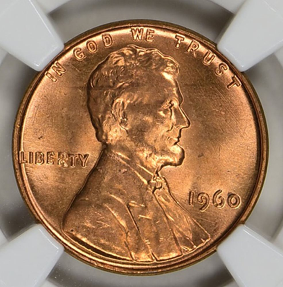 1960 Small Date Lincoln Memorial Cent PCGS MS65 RD