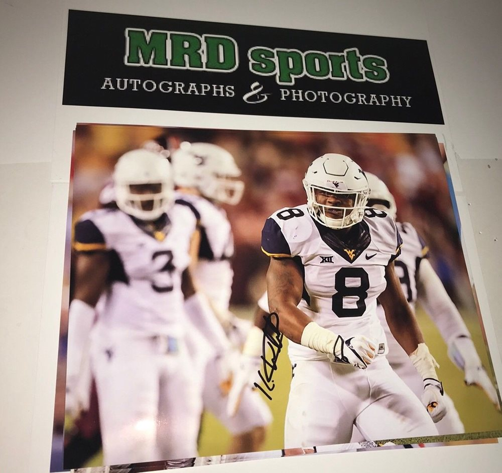 Kyzir White West Virginia Hand Signed Autographed 8x10 Football Photo D