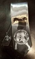 L@@K! ZOMBIE Response Team Steel gray satin neck tie! Walking dead