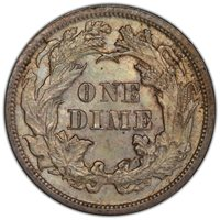 1872 Seated Dime PCGS MS-64 CAC