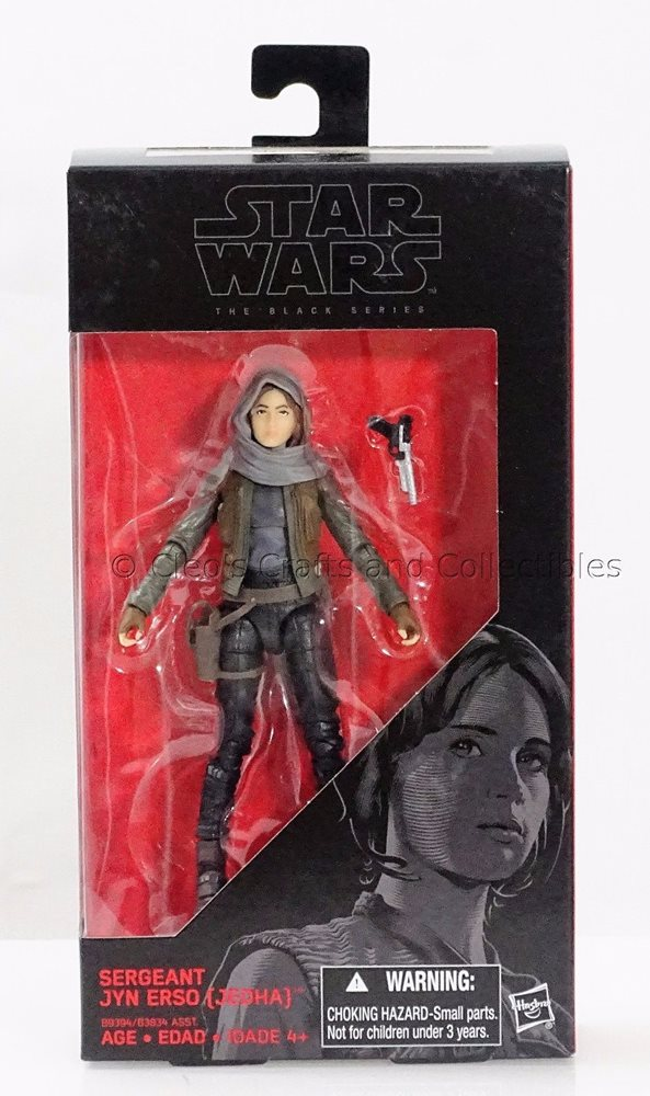 "Star Wars Hasbro W4 Black Series 6/"" Rogue One #22 Sergeant Jyn Erso Jedha"