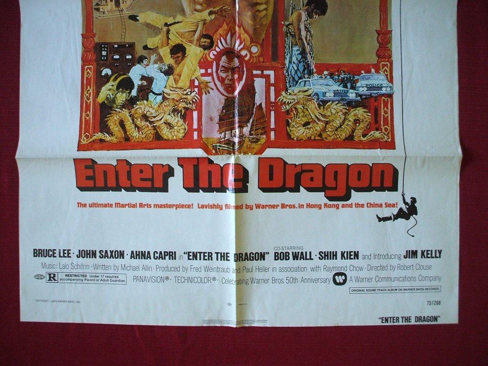 enter the dragon 1973 original movie poster bruce lee k. Black Bedroom Furniture Sets. Home Design Ideas
