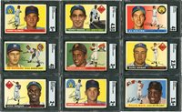"""Lot # 341: 1955 Topps """"Best of the Best"""" Hall of Famer SGC Graded Collection w/Clemente & Koufax Rookies (15)"""