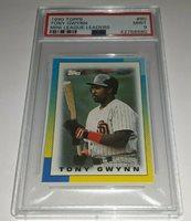 Tony Gwynn Baseball Card 1990 Topps League Leaders Mi
