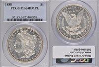 1888 MS64 DMPL PCGS $1
