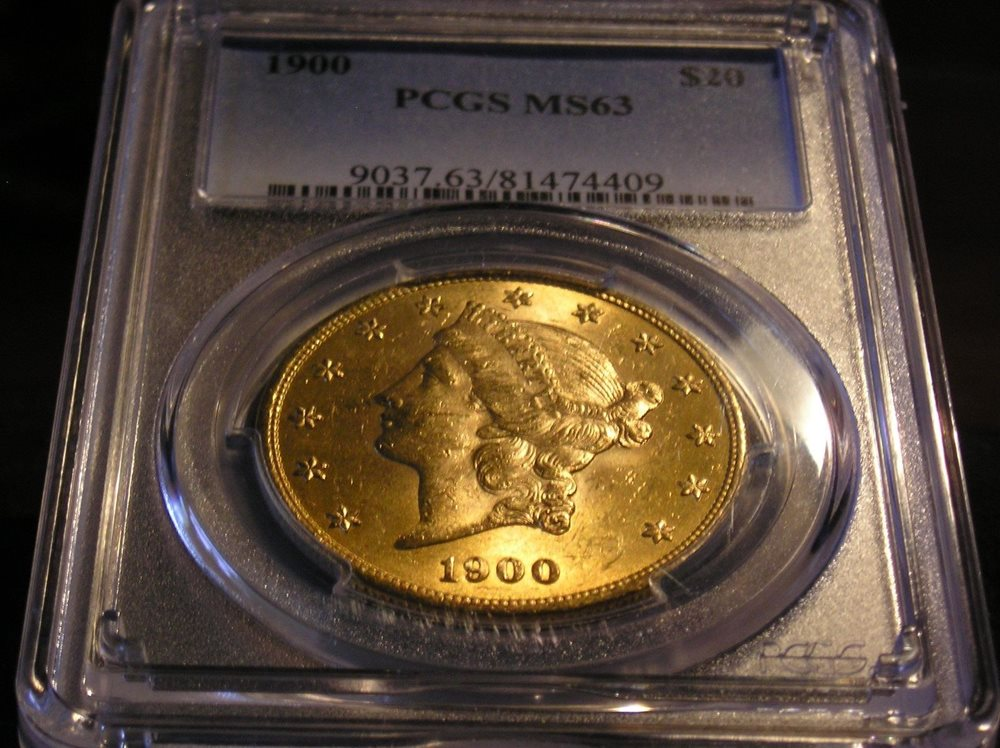 1900 Liberty Head Double Eagle Gold Coin $20 PCGS MS63 Uncirculated