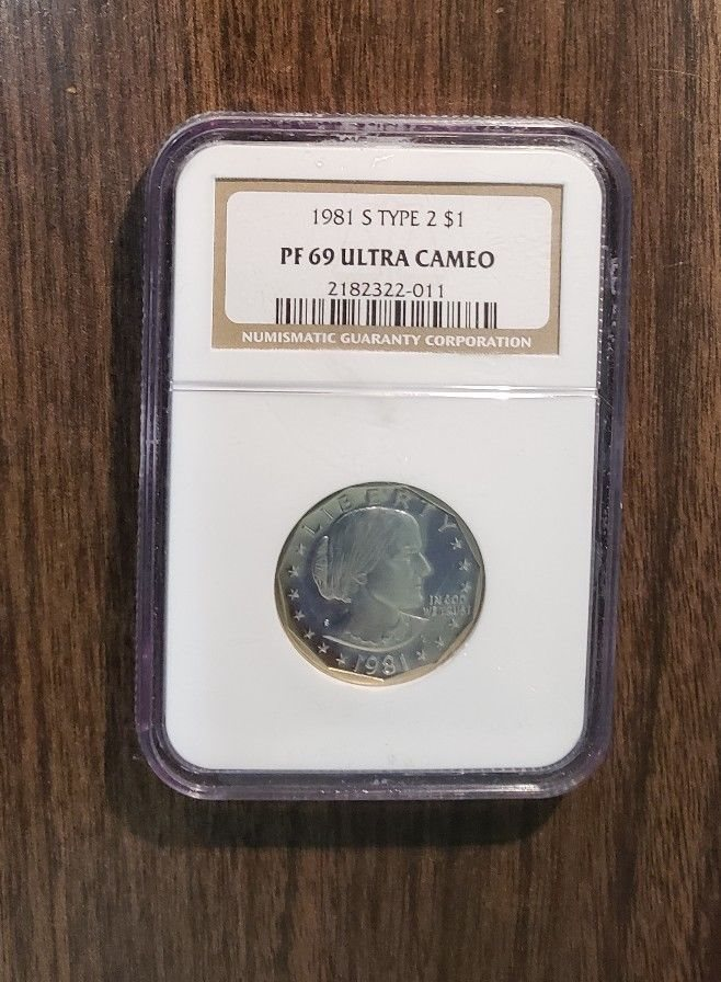 Anthony Dollar Graded PF 69 Ultra Cameo by NGC! 1979 S Type 2 Proof Susan B