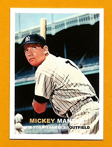 Mickey Mantle New York Yankees Baseball Card Career Stats On The Back