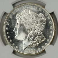 1881-S NGC MS66 * Flashy White GEM with PL Obverse * #4515486-083