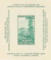 #797 – 1937 10c Society of Philatelic Americans Convention, souvenir sheet