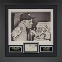 """New York Yankees Mickey Mantle and Babe Ruth """"Hall of Fame"""""""