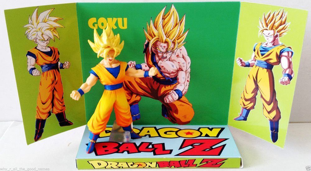 DRAGONBALL Z GOKU Action Figure on Custom Design Display Diarama Diorama [a]