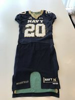 Game Worn Used Navy Midshipmen Football Jersey Under Armour Size 40 #20