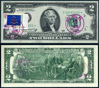 US Currency 1976 $2 FRN Star Note First Day Issue Tire Hill, Pennsylvania