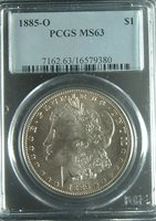 1885-O MS63 PCGS MORGAN SILVER DOLLAR