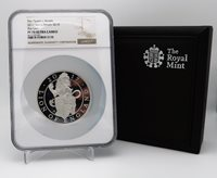 Queen's Beasts 2017 G.Britain £10 The Lion 5oz Silver Proof Coin NGC PF70