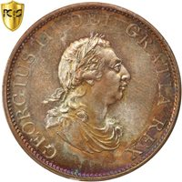 [#504907] Great Britain, George III, 1/2 Penny, 1799, PCGS, MS66BN, MS(65-70)