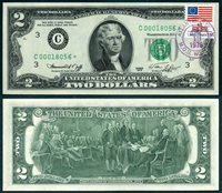 US Currency 1976 $2 FRN Star Note First Day Issue Atlantic City, New Jersey
