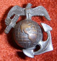 Minty 1930s US Marine Corps EM Collar Insignia