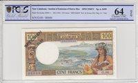 Neukaledonien 100 Francs Tahitienne 1969 Specimen Pcgs 64opq