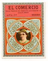 1920s Cuba El Comercio Cuban Cigar Label