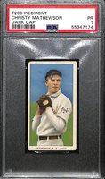 1909-11 T206 Christy Mathewson (HOF) Dark Cap Tobacco Card Graded PSA 1 (Piedmont 150, Factory No. 25)