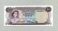 1/2 Dollar 1968 Bahamas Pick 26a