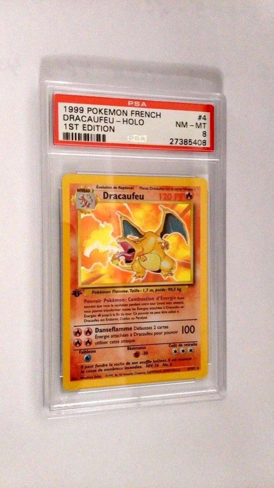 PSA 8 FRENCH Pokemon 1st Edition Base Set HOLO -DRACAUFEU (Charizard)  #4/102 MT