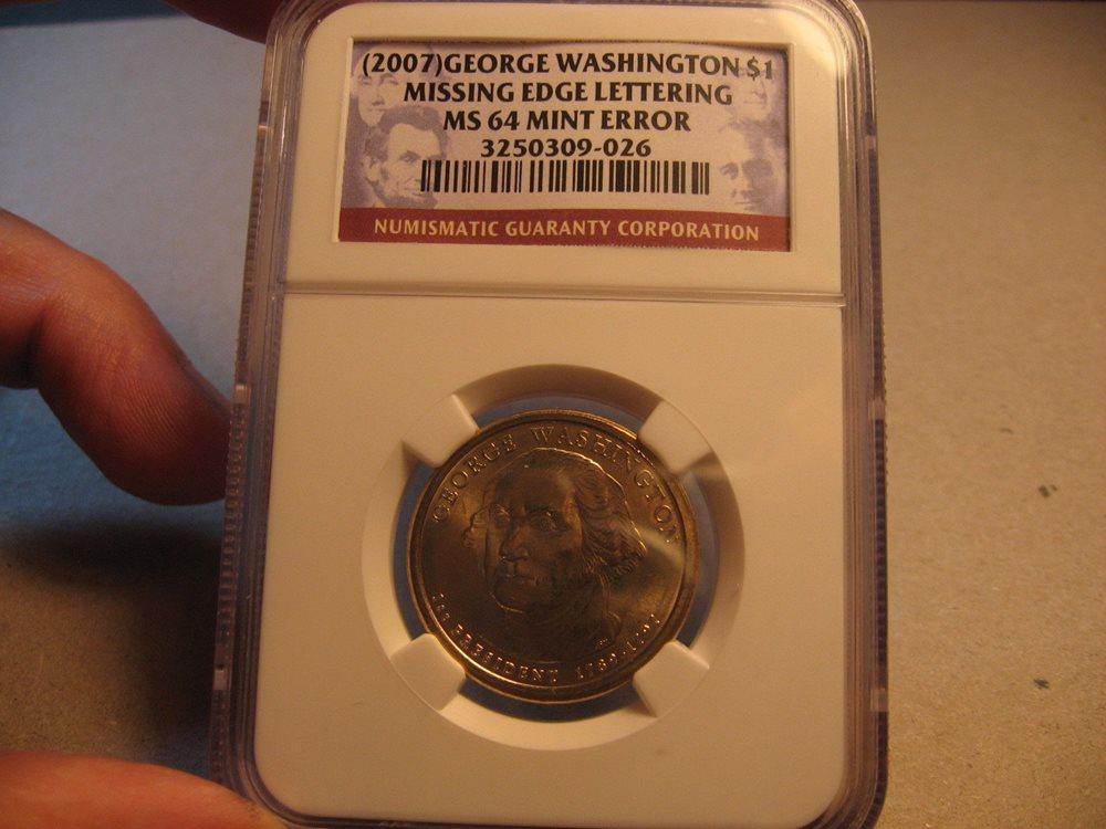 2008 $1 Andrew Jackson Presidential Dollar MS 66 NGC Missing Edge Lettering