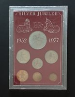 1977 Silver Jubilee Great Britain 7 Coin Set