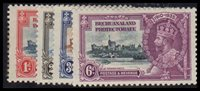 Lot id: 4181 - Bechuanaland Protectorate 1935 Set 117 - 120Bechuanaland Protectorate 1935 Silver Jubilee Set 117 - 120 MH