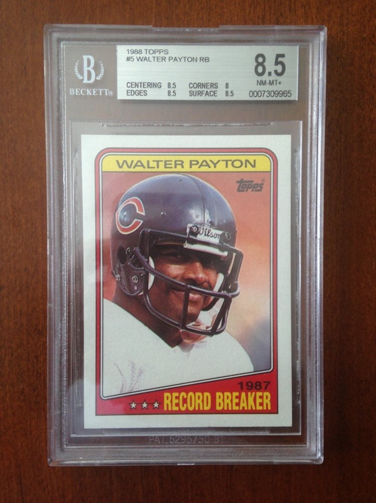 1988 Topps 5 Walter Payton Bgs 85 Nm Mt