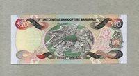 20 Dollars Serie 1997 Bahamas P 65a