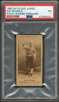 Lot # 264: 1887 N172 Old Judge Baseball Kid Nichols Card PSA PR 1