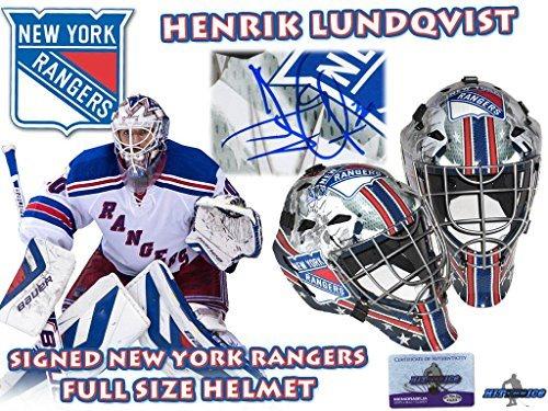 Henrik Lundqvist Signed New York Rangers Full Size Goal