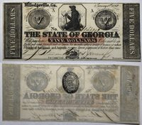 1862 $5 State of Georgia Five Dollars 153979