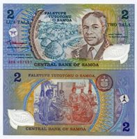 Magnificent Samoa 2 Tala Pick 31a Polymer Money - Unc