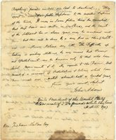 President Adams Writes to an Old Friend, Reflecting on the Vicissitudes of High Office