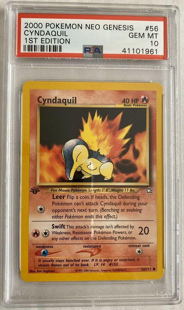 Cyndaquil Common Pokemon Card Neo Genesis 57//111