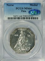Norse Medal Thin MS64 PCGS