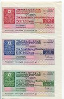 Royal Bank of Scotland - Williams & Glyn's Bank Ltd, London. 1960s. 5 specimen cheques printed on 2 sheets A4