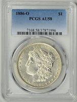 1886-O PCGS AU58 MORGAN DOLLAR * Tough Date * #37871996