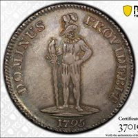 1795 Swiss Cantons Bern Thaler DAV 1759 PCGS MS62 Uncirculated