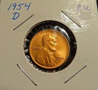 1954 D Lincoln Wheat Cent Nice MS/BU RED Lincoln Coin
