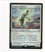 Ixalan Promos Near Mint Engli Bishop of Rebirth Draft Weekend Promo x4 4x