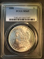 1888-P MS65 VAM-11A Doubled Ear, Clashed Obverse In Top 100 Morgan Silver Dollar